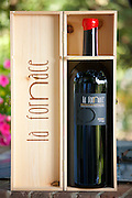 La Fornace Brunello di Montalcino 2006 magnum bottle of red wine at wine estate of La Fornace at Montalcino in Val D'Orcia, Tuscany, Italy