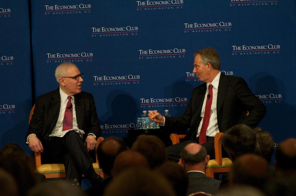 Tony Blair addresses the Economic Club of Washington at the JW Marriott