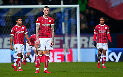 Aden Flint of Bristol City cuts a frustrated figure after his side concede a goal - Mandatory by-line: Robbie Stephenson/JMP - 02/02/2018 - FOOTBALL - Macron Stadium - Bolton, England - Bolton Wanderers v Bristol City - Sky Bet Championship