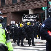 Washington DC, USA, 20 January, 2017. DisruptJ20 protests of the inauguration of Donald J. Trump as the President of the USA.