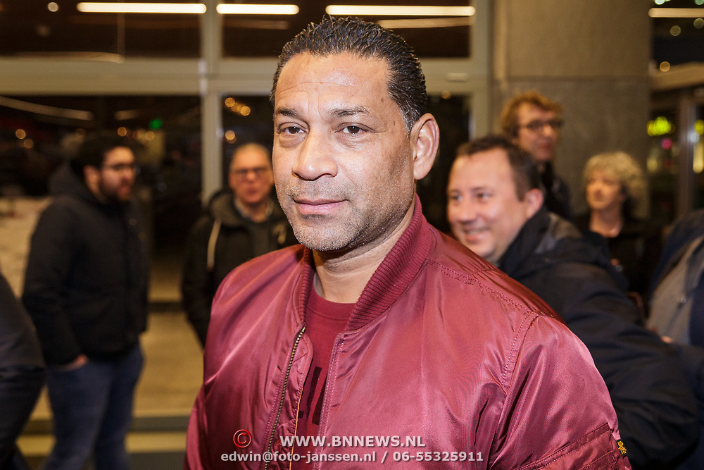 NLD/Rotterdam/20190221 - inloop verjaardagsfeestj Willem van Hanegem, Henk Fraser