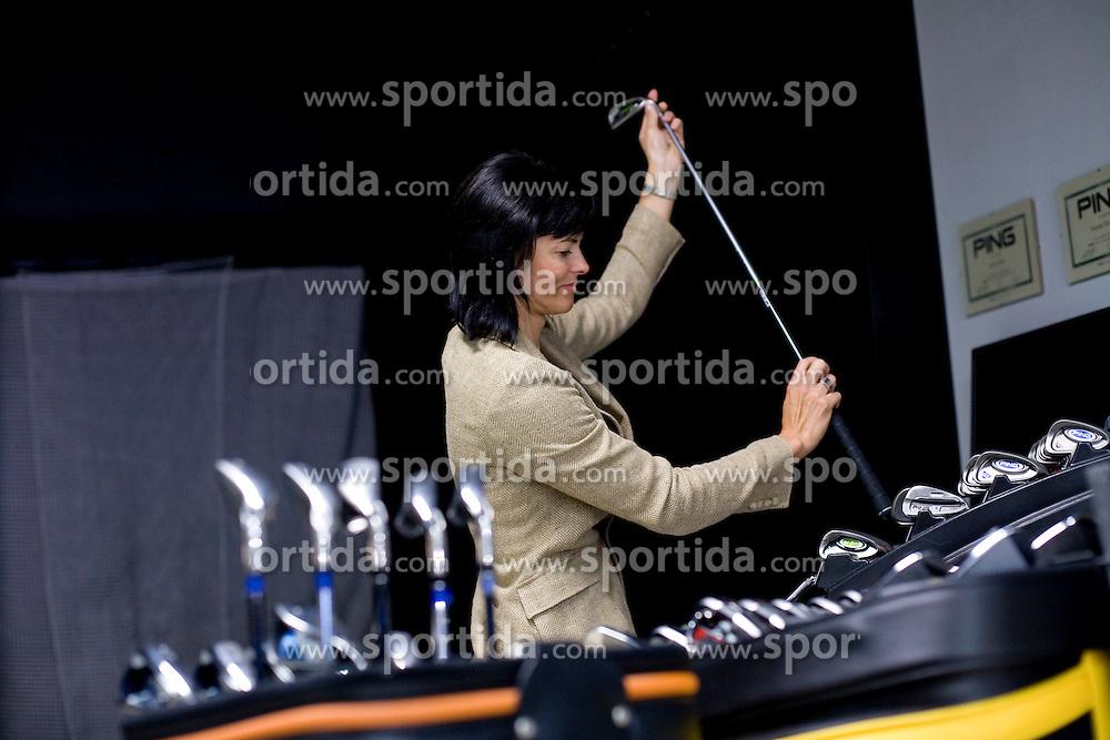 Natasa Smidovnik, general manager of GANARO d.o.o. Ljubljana  in her golf shop GOWF, Ajdovscina 4, Ljubljana, Slovenia, on September 16, 2008. (Photo by Vid Ponikvar / Sportal Images)
