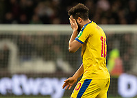 Football - 2018 / 2019 Premier League - West Ham United vs. Crystal Palace<br /> <br /> Andros Townsend (Crystal Palace) with his hand covering his face at the final whistle at the London Stadium<br /> <br /> COLORSPORT/DANIEL BEARHAM