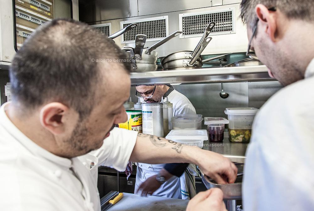 Milan, Bollate, InGalera Restaurant: Massimo , Ivan and Fabio at work