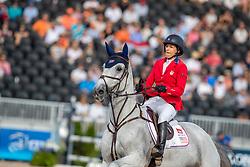 KRAUT Laura (USA), Zeremonie<br /> Tryon - FEI World Equestrian Games™ 2018<br /> FEI World Individual Jumping Championship<br /> Third cometition - Round A<br /> 3. Qualifikation Einzelentscheidung 1. Runde<br /> 23. September 2018<br /> © www.sportfotos-lafrentz.de/Stefan Lafrentz