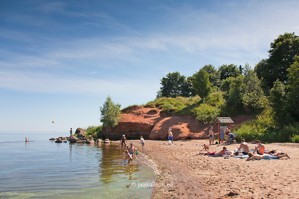 Beach in Kallaste by Lake Peipsi, Tartu County, Estonia