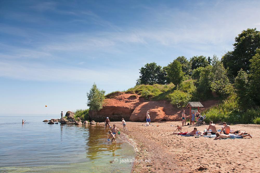 Beach in Kallaste by Lake Peipsi, Tartu County, Estonia