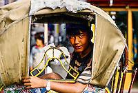 Rickshaw driver, Thamel District, Kathmandu, Nepal
