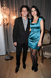 YASMIN MILLS and STEPHEN WEBSTER at The Rodial Beautiful Awards in aid of the charity Kids Company held in the Billiard Room at The Sanderson, 50 Berners Street, London on 3rd February 2010.