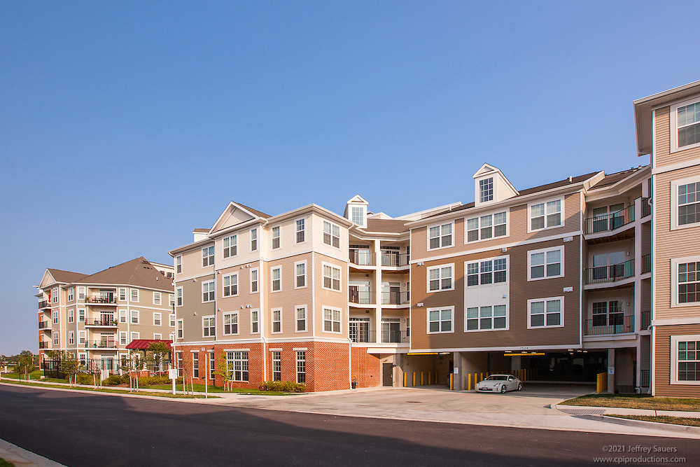 Architectural image of Verde at Howard Square Apartments in Baltimore Maryland by Jeffrey Sauers of Commercial Photographics, Architectural Photo Artistry in Washington DC, Virginia to Florida and PA to New England