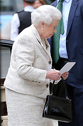 The Queen arriving with at The London Clinic to visit her husband the Duke of Edinburgh who spent his 92nd birthday in hospital in London, Monday, 10th June 2013<br /> Picture by Stephen Lock / i-Images