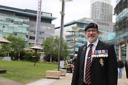 Outside the BBC  during the Soldier F Protest at Media City, Salford, United Kingdom on 18 May 2019.