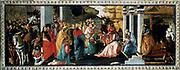 The Adoration of the Magi'. Sandro Botticelli (1445-1510)  Italian artist.