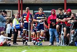 Olly Robinson of Bristol Rugby leads out his side - Rogan/JMP - 05/08/2017 - RUGBY UNION - Cleve RFC - Bristol, England - Bristol Rugby v Harlequins - Pre-Season Friendly.