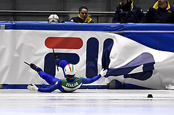 February 9, 2019 - Torino, Italia - Foto LaPresse/Nicolò Campo .9/02/2019 Torino (Italia) .Sport.ISU World Cup Short Track Torino - Men 1500 meters Final B .Nella foto: Yuri Confortola cade..Photo LaPresse/Nicolò Campo .February 9, 2019 Turin (Italy) .Sport.ISU World Cup Short Track Turin - Men 1500 meters Final B.In the picture: Yuri COnfortola falls (Credit Image: © Nicolò Campo/Lapresse via ZUMA Press)
