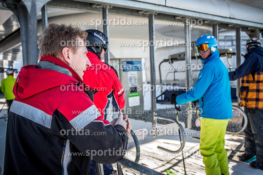 Lift Operator and Lift Maintenance at Krvavec SKI Resort, on December 21, 2016 in Krvavec, Slovenia. Photo by Vid Ponikvar / Sportida