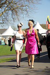 LIVERPOOL, ENGLAND, Friday, April 8, 2011: Racegoers during Ladies' Day on Day Two of the Aintree Grand National Festival at Aintree Racecourse. (Photo by David Rawcliffe/Propaganda)