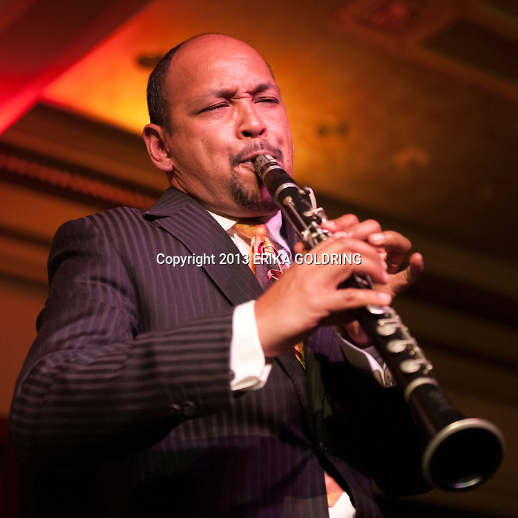 NEW ORLEANS, LA - APRIL 18:  Evan Christopher performs at The Big Beat Benefit Concert for The New Orleans Jazz Orchestra honoring Masters of the Reed at the Royal Sonesta Hotel on April 18, 2013 in New Orleans, Louisiana.  (Photo by Erika Goldring/Getty Images) *** Local Caption *** Evan Christopher