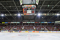 KELOWNA, CANADA - FEBRUARY 28: The Kelown Rockets fans fill the arena against the Calgary Hitmen on February 28, 2015 at Prospera Place in Kelowna, British Columbia, Canada.  (Photo by Marissa Baecker/Shoot the Breeze)  *** Local Caption *** fans;