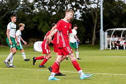 WREXHAM, WALES - Thursday, August 15, 2019: Wales' Matthew Senior looks dejected after missing a chance during the UEFA Under-15's Development Tournament match between Wales and Northern Ireland at Colliers Park. (Pic by Paul Greenwood/Propaganda)