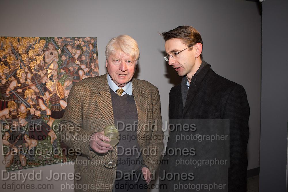 STANLEY JOHNSON; GLEB BORAKHOV, Britannic Myths, PV Paintings by Joe Machine, Stories by Steven O'Brien, CNB Gallery, Rivington St. London. 18 February 2016