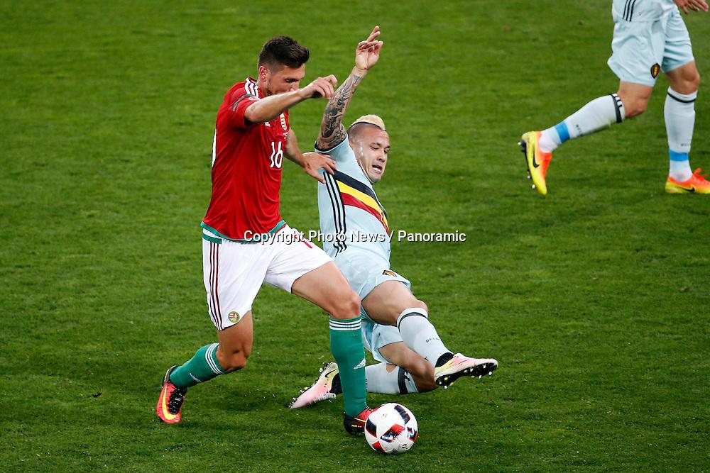 TOULOUSE, FRANCE - JUNE 26 :  Adam Pinter defender of Hungary and Radja Nainggolan midfielder of Belgium
