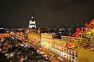 Views from El Parque Central and El Capitolio in Old Havana, including Hotel Inglaterra, Hotel Telegrafo and the Gran Teatro