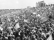 Crowds of supporters during the All Ireland Football Final Dublin v Armagh at Croke Park, 25th September 1977.