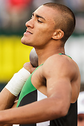 Ashton Eaton, Decathlon, shot put, on his way to setting world record at USA Olympic Trials