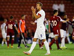 Harry Kane of England thanks the fans - Photo mandatory by-line: Matt McNulty/JMP - Mobile: 07966 386802 - 11/06/2015 - SPORT - Football - Barnsley - Oakwell Stadium - England U21 v Belarus U21 - International Friendly U21s