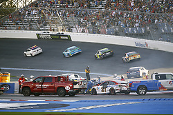 September 30, 2018 - Concord, North Carolina, United States of America - Brad Keselowski (2) wrecks to bring out a caution during the Bank of America ROVAL 400 at Charlotte Motor Speedway in Concord, North Carolina. (Credit Image: © Chris Owens Asp Inc/ASP via ZUMA Wire)