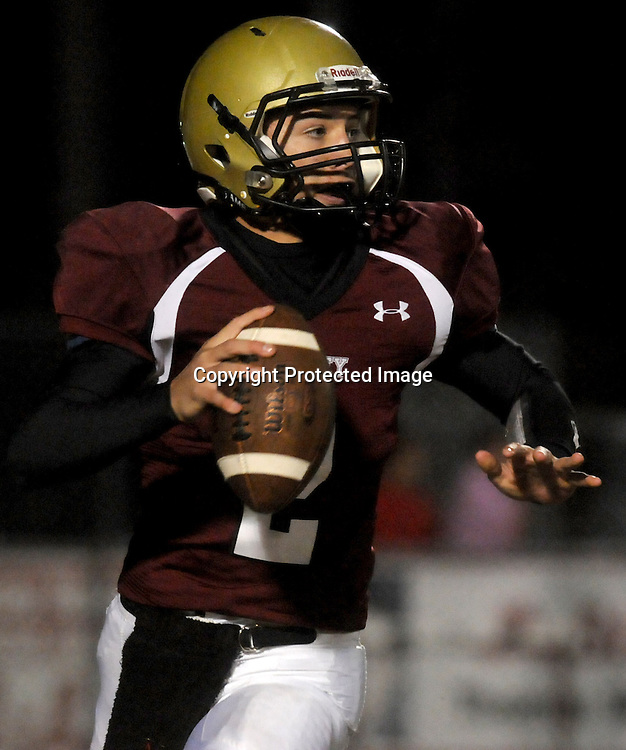 Ashley High School's Cham Carey rushes against West Brunswick Friday November 7, 2014. (Jason A. Frizzelle)