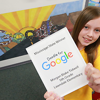 Lawndale Elementary School student Morgan Tidwell won the Doodle for Google contest for the State of Mississipp.
