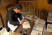 Vietnam. Hanoi. calligraphe. // Vietnam. Hanoi. calligraphist.