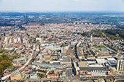 Nederland, Noord-Brabant, Roosendaal, 01-04-2016; overzicht binnenstad Roosendaal met Markt en Nieuwe Markt (midden rechts).<br /> Cityscape Bergen op Zoom.<br /> <br /> luchtfoto (toeslag op standard tarieven);<br /> aerial photo (additional fee required);<br /> copyright foto/photo Siebe Swart