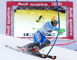 22.01.2012, Ganslernhang, Kitzbuehel, AUT, FIS Weltcup Ski Alpin, 72. Hahnenkammrennen, Herren, Slalom 1. Durchgang, im Bild /Axel Baeck (SWE) // Axel Baeck of Sweden during Slalom race 1st run of 72th Hahnenkammrace of FIS Ski Alpine World Cup at 'Ganslernhang' course in Kitzbuhel, Austria on 2012/01/22. EXPA Pictures © 2012, PhotoCredit: EXPA/ Johann Groder