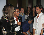 **EXCLUSIVE**.Brazilian Super Model Adriana Lima and Brazilian Super Model Letícia Birkheuer's ex- boyfriend, Max, who in 1999 owned Floats Nightclub and Brazilian Actor/Singer Dado Dolabella..PM Lounge owner Unik's Karaoke Sunday Night .New York, NY, USA .Sunday, May, 06, 2007.Photo By Celebrityvibe.To license this image call (212) 410 5354 or;.Email: celebrityvibe@gmail.com; .