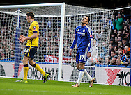 Pedro of Chelsea rues missing a goal scoring opportunity during the The FA Cup match between Chelsea and Scunthorpe United at Stamford Bridge, London, England on 10 January 2016. Photo by Ken Sparks.