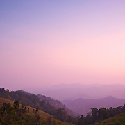 Sunset at Mae Wong National Park, in  Kampaeng Phet, Thailand