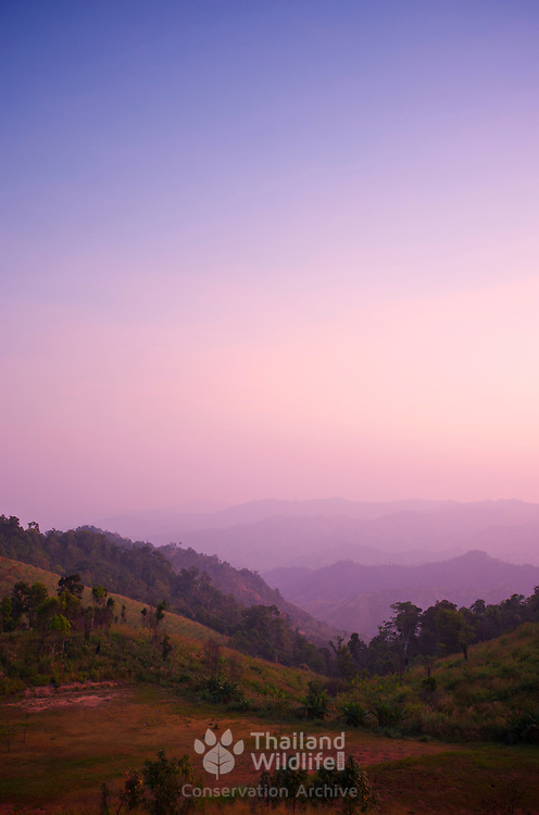 Sunset at Mae Wong National Park, in  Kampaeng Phet, Thailand