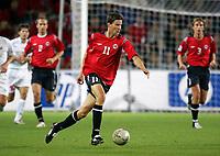 Fotball<br /> VM-kvalifisering<br /> Norge v Hviterussland<br /> Ullevaal stadion<br /> 8. september 2004<br /> Foto: Digitalsport<br /> Petter Rudi, Norge