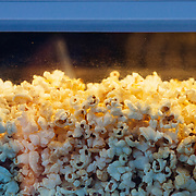 Jason Spooner performs to a packed crowd in Jackson, Wyoming. Popcorn detail.