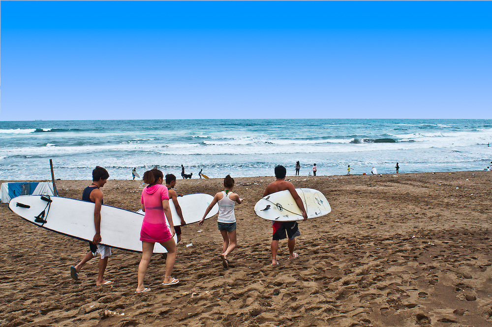Surfing in Jingshan, Taiwan, just northeast of Taipei