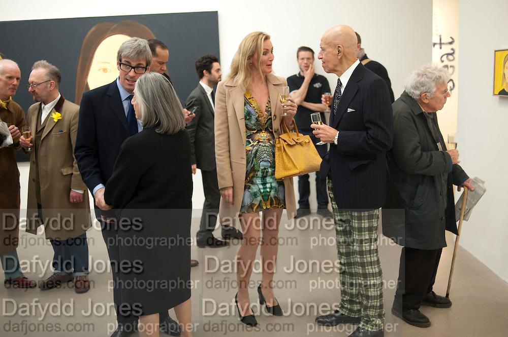 TIMOTHY TAYLOR;ADA KATZ;  BETTINA BALHSEN; ALEX KATZ;, Alex Katz opening. Timothy Taylor gallery. London. 3 March 2010.