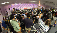 Frank Lampard and Raheem Sterling speak to the media during the England press conference at Est&aacute;dio Claudio Coutinho, Rio de Janeiro<br /> Picture by Andrew Tobin/Focus Images Ltd +44 7710 761829<br /> 17/06/2014