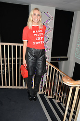 BECKY TONG at a party to celebrate 10 years of footware designer Nicholas Kirkwood held at 9 Adam Street, London on 19th September 2015.