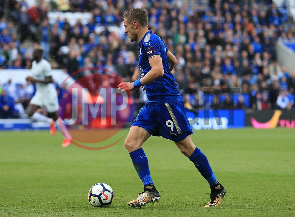 Jamie Vardy of Leicester City - Mandatory by-line: Paul Roberts/JMP - 09/09/2017 - FOOTBALL - King Power Stadium - Leicester, England - Leicester City v Chelsea - Premier League