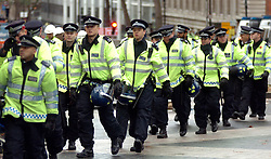 (c) London News Pictures. Picture dated 09/11/2010. The government is planning to cut its funding for the police by 20% by 2015 it announced today (02/03/11). Picture credit should read Joel Goodman/LNP