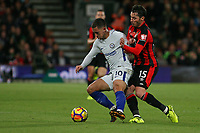 Football - 2017 / 2018 Premier League - AFC Bournemouth vs. Chelsea<br /> <br /> Bournemouth's Adam Smith gets tight to Eden Hazard of Chelsea at Dean Court (Vitality Stadium) Bournemouth <br /> <br /> COLORSPORT/SHAUN BOGGUST