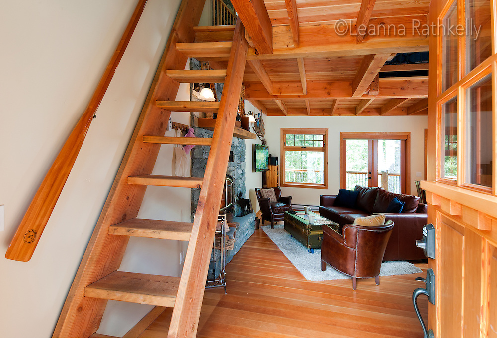 Cabins along the Koksilah River on Vancouver Island are part of the Kinsol Cottage co-op and are individually built and designed with creative flair.